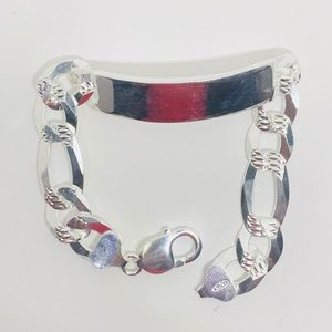 Other - Sterling Silver 925 Young Men's Figaro ID Bracelet